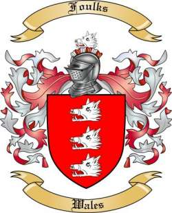 Foulks Family Crest from Wales
