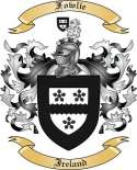 Fowlie Family Crest from Ireland