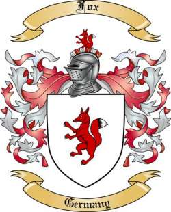 Fox Family Crest From Germany By The Tree Maker