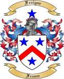 Fraigne Family Crest from France