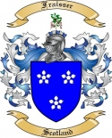 Fraisser Family Crest from Scotland