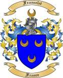 Francelet Family Coat of Arms from France