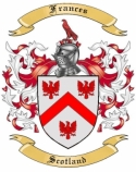 Frances Family Coat of Arms from Scotland