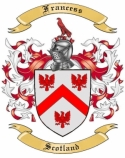 Francess Family Coat of Arms from Scotland