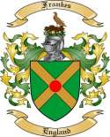 Frankes Family Crest from England