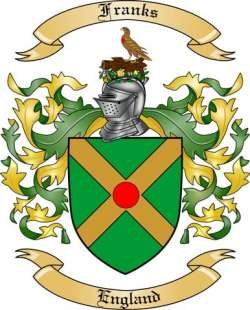 Franks Family Coat of Arms from England