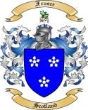 Frasee Family Coat of Arms from Scotland