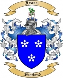 Fraser Family Coat of Arms from Scotland