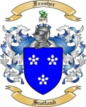 Frasher Family Coat of Arms from Scotland