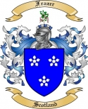 Frazer Family Coat of Arms from Scotland
