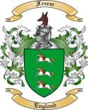 Freeze Family Coat of Arms from England
