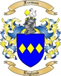 Freman Family Crest from England