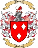 Freman Family Crest from Ireland
