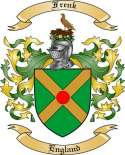 Frenk Family Crest from England