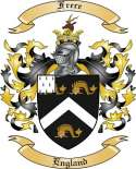 Frere Family Crest from England