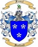 Fresal Family Crest from Scotland