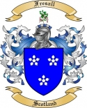 Fresall Family Crest from Scotland