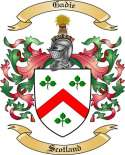 Gadie Family Crest from Scotland