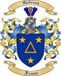 Gadreau Family Crest from France