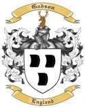 Gadson Family Coat of Arms from England