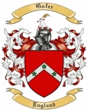 Gafer Family Crest from England