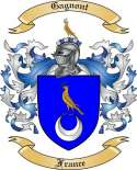 Gagnont Family Crest from France
