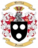 Gaillet Family Crest from France2