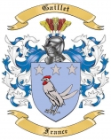 Gaillet Family Crest from France