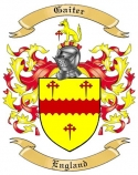 Gaiter Family Crest from England
