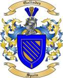 Galindez Family Crest from Spain