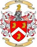 Gallan Family Coat of Arms from France
