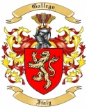 Gallego Family Coat of Arms from Italy