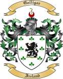 Galligar Family Crest from Ireland