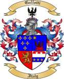 Gallotti Family Coat of Arms from Italy