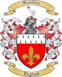 Gambles Family Coat of Arms from England