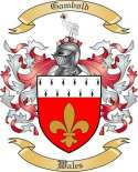 Gambold Family Coat of Arms from Wales