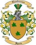 Gamborena Family Crest from Spain