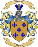 Gamiz Family Coat of Arms from Spain