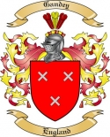 Gandey Family Coat of Arms from England