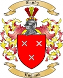 Gandy Family Crest from England