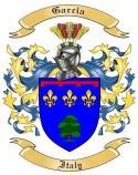 Garcia Family Coat of Arms from Italy
