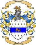 Garret Family Crest from Ireland
