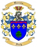 Garsia Family Coat of Arms from Italy