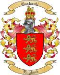 Garterall Family Crest from England