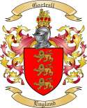 Gartrell Family Crest from England