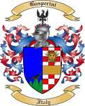 Gasperini Family Crest from Italy