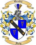 Gaudio Family Crest from Italy