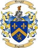 Gaughf Family Coat of Arms from England