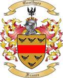 Gauthyez Family Coat of Arms from France