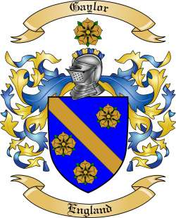 Gaylor Family Crest From England By The Tree Maker